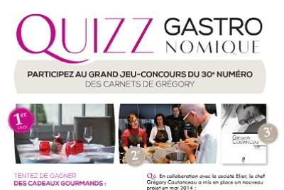 illustration de La Rochelle gastronomie : jeu-concours pour la 30e édition des Carnets de Grégory Coutanceau, jouez jusqu'au 30 octobre 2014 !
