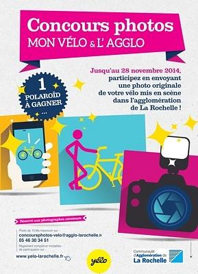 illustration de La Rochelle : concours photos mon vélo et l'Agglo avec Yélo, participez jusqu'au 28 novembre 2014
