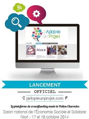 illustration de Poitou-Charentes : lancement à Niort de la plate-forme régionale de crowdfunding jadopteunprojet.com, samedi 18 octobre 2014