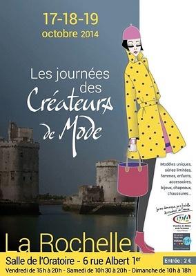 illustration de La Rochelle : 5e Journées des créateurs de mode du vendredi 17 au dimanche 19 octobre 2014
