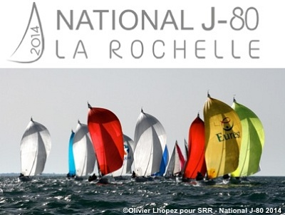 illustration de Régates à La Rochelle : la SRR accueille le National J80 jusqu'au 2 novembre 2014
