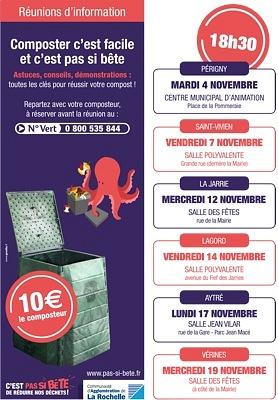 illustration de La Rochelle Agglo : composter c'est facile, première réunion d'information à Périgny, mardi 4 novembre 2014 à 18h30