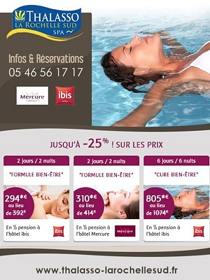 illustration de Promos week-end à la Thalasso La Rochelle Sud, jusqu'à -25% cet hiver !