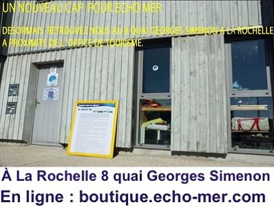 illustration de Une nouvelle adresse à La Rochelle pour l'association Echo-Mer et sa boutique !