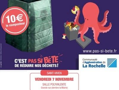 illustration de La Rochelle Agglo : composter c'est facile, réunion compostage à Saint-Vivien, vendredi 7 novembre 2014 à 18h30