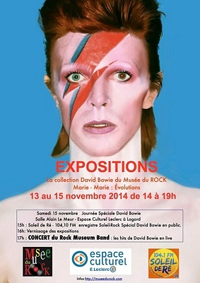 illustration de La Rochelle Lagord : expo et à 17h concert en hommage à David Bowie, samedi 15 novembre 2014