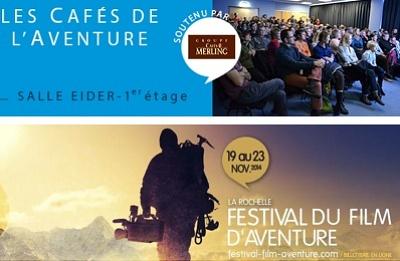 illustration de Les Cafés de l'Aventure du festival du film de La Rochelle 20, 21, 22 et 23 novembre 2014