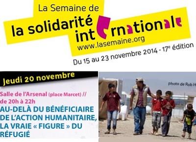 illustration de La Rochelle : solidarité internationale, action humanitaire et figure du réfugié, jeudi 20 novembre 2014