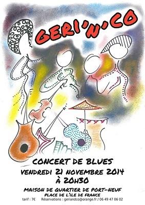 illustration de Concert de blues à La Rochelle : Geri'n'Co à Port-Neuf, vendredi 21 novembre 2014