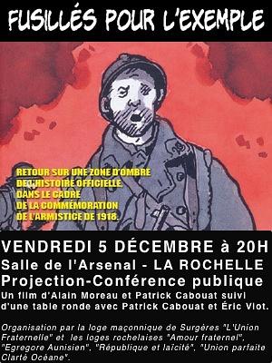 illustration de Projection-conférence à la Rochelle : fusillés pour l'exemple 1914-1918, vendredi 5 décembre 2014