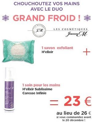 illustration de Made in France à La Rochelle : soin des mains, offre duo Jeanne M. en promo jusqu'au 20 décembre 2014