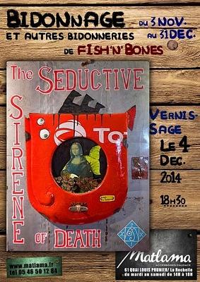 illustration de Exposition à La Rochelle : bidonnage et autres bidonneries by Fish'n'Bones chez Matlama jusqu'au 31 décembre 2014 !