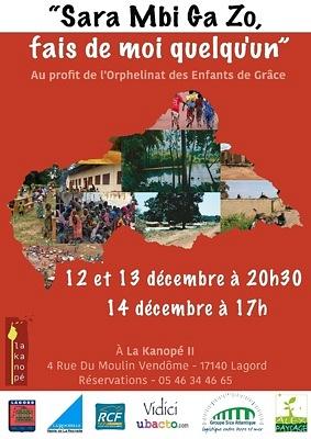 illustration de Agglo de la Rochelle - Lagord : Spectacle au profit des enfants de Centrafrique, vend.12, same. 13 et dim. 14 décembre 2014