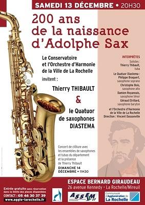 illustration de Concert à La Rochelle : les 200 ans de la naissance d'Adolphe Sax, samedi 13 décembre 2014