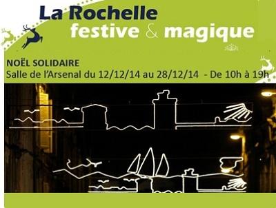 illustration de La Rochelle : zone de gratuité et ateliers créatifs au marché de Noël solidaire jusqu'au 28 décembre 2014