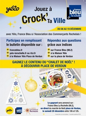 illustration de La Rochelle mobilité : Crock'ta Ville, jouez avec Yélo et ses partenaires jusqu'au 19 décembre 2014