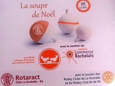illustration de A La Rochelle : les soupes de Noël du Rotaract pour la Banque Alimentaire jusqu'au 30 décembre 2014