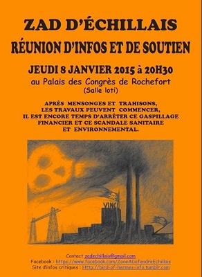 illustration de Projet d'hyper-incinérateur : réunion d'information à Rochefort sur la ZAD d'Echillais, jeudi 8 janvier 2015 à 20h30