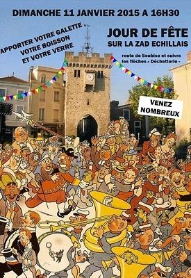 illustration de Opposition à l'hyper-incinérateur : jour de fête et galettes citoyennes sur la ZAD d'Echillais, dimanche 11 janvier 2015 à partir de 16h30