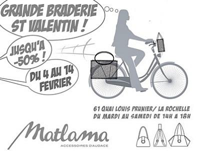 illustration de La Rochelle : sacs et accessoires, grande braderie de la Saint-Valentin 2015 chez Matlama