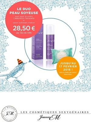 illustration de Peaux sèches et-ou matures : offres duo Jeanne M. made in La Rochelle !