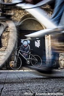 illustration de La Rochelle mon vélo et l'Agglo : Vélotopia d'Amanda Bronscheer 1er prix du concours, expo photos jusqu'au 28 février 2015