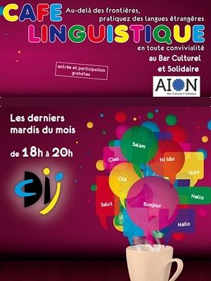 illustration de Café linguistique à La Rochelle au bar Aiôn, mardi 24 février 2015 de 18h à 20h