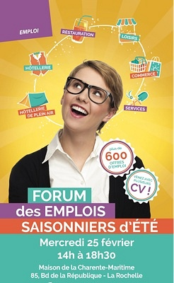 illustration de La Rochelle - île de Ré : forum des emplois saisonniers d'été à la Maison de la Charente-Maritime, mercredi 25 février 2015
