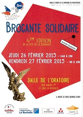illustration de Fête de la solidarité à La Rochelle avec le  Secours Populaire Français, jeudi 26 et vendredi 27 février 2015