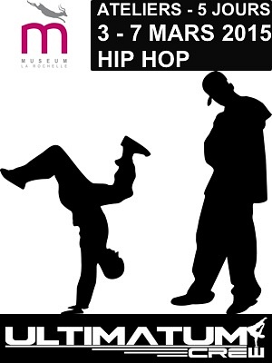 illustration de Danse hip hop au Muséum de La Rochelle : stage avec Ultimatum 3-7 mars 2015