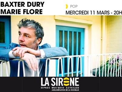 illustration de Soirée pop à La Sirène avec le songwriter Baxter Dury et Marie Flore, mercredi 11 mars 2015