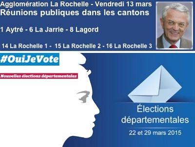 illustration de La Rochelle Agglomération : réunions publiques des binômes des cantons de l'agglo, vendredi 13 mars 2015