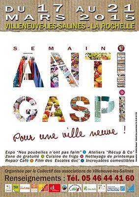 illustration de La Rochelle - Villeneuve-les-Salines : semaine anti-gaspillage du 17 au 21 mars 2015 !