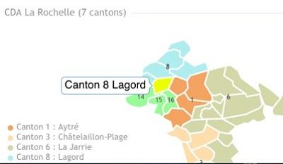 illustration de La Rochelle Agglo - Canton 8 Lagord : derniers RV avant le 1er tour avec les binômes, UMP, PS, Centre, Radicaux de gauche les 18, 19 et 20 mars 2015