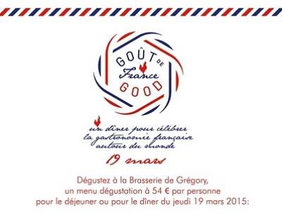 illustration de Goût de France à La Rochelle : rendez-vous à la Brasserie de Grégory Coutanceau, jeudi 19 mars 2015