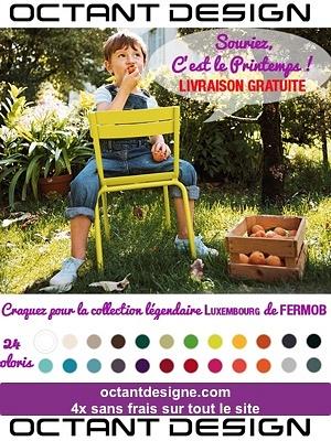 illustration de La Rochelle design : Fermob, chaises, fauteuils et bancs Luxembourg  sur octantdesign.com