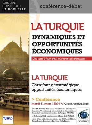 illustration de La Rochelle business : la Turquie, dynamiques et opportunités économiques, conférence à Sup de Co, mardi 31 mars 2015