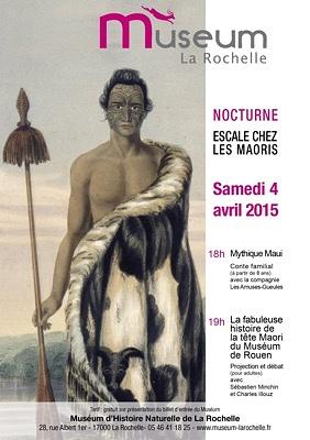 illustration de Nocturne au Muséum de La Rochelle : escale chez les Maoris entre conte et projection-débat, samedi 4 avril 2015