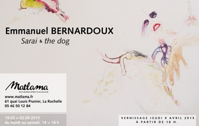 illustration de La Rochelle : Emmanuel Bernardoux expose chez Matlama, vernissage jeudi 9 avril 2015