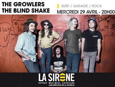 illustration de Pop surf garage rock à La Rochelle : The Growlers ; The Blind Shake en concert à La Sirène, mercredi 29 avril 2015