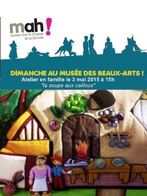 illustration de Un dimanche au Musée des Beaux-Arts de la Rochelle : atelier en famille le 3 mai 2015