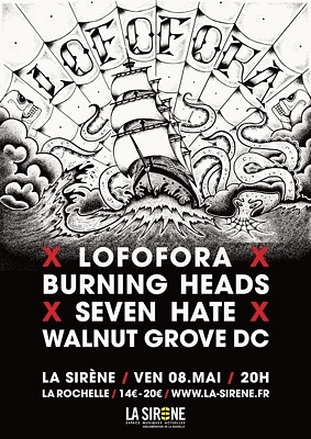 illustration de Événement punk-rock-metal à la Rochelle : Lofofora ; Burning Heads ; Seven Hate à La Sirène, vendredi 8 mai 2015 !