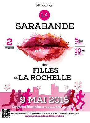 illustration de Running à La Rochelle : 14e Sarabande des Filles de La Rochelle, courses 100% féminines, samedi 9 mai 2015
