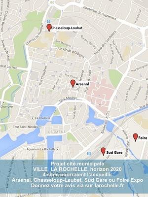 illustration de La Rochelle : consultation internet pour choisir le lieu de la future cité municipale, mai 2015