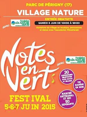 illustration de Agglo La Rochelle : journée nature au village du festival Notes en Vert au parc de Périgny, samedi 6 juin 2015