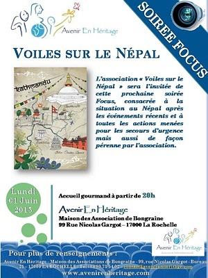 illustration de La Rochelle solidarité internationale : soirée focus avec Voiles sur le Népal, lundi 1er juin 2015