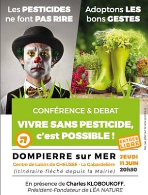 illustration de Agglo La Rochelle : vivre sans pesticide, c'est possible, conférence-débat à Sainte-Soulle, jeudi 11 juin 2015
