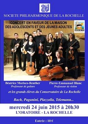illustration de Concert de la société philharmonique à La Rochelle au profit de la Maison des adolescents et jeunes adultes, mercredi 24 juin 2015