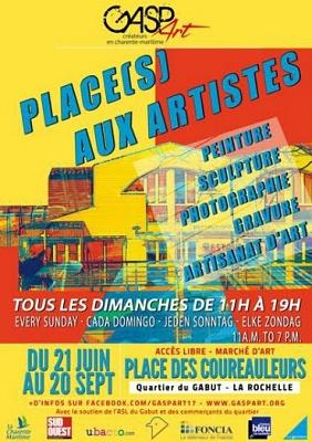illustration de Marché de l'art à La Rochelle : Place(s) aux artistes, dimanche, le 28 juin 2015 de 11h à 19h !