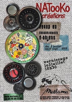 illustration de Exposition à La Rochelle : récup' et détournement d'objets, Natooko Créations s'installe chez Matlama jusqu'au 15 septembre 2015